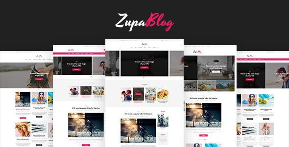 ZupaBlog – Creative Blog and Magazine PSD Template