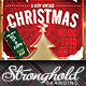Vintage Christmas Neon Event Flyer - GraphicRiver Item for Sale