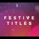 Elegant Festive Titles - VideoHive Item for Sale