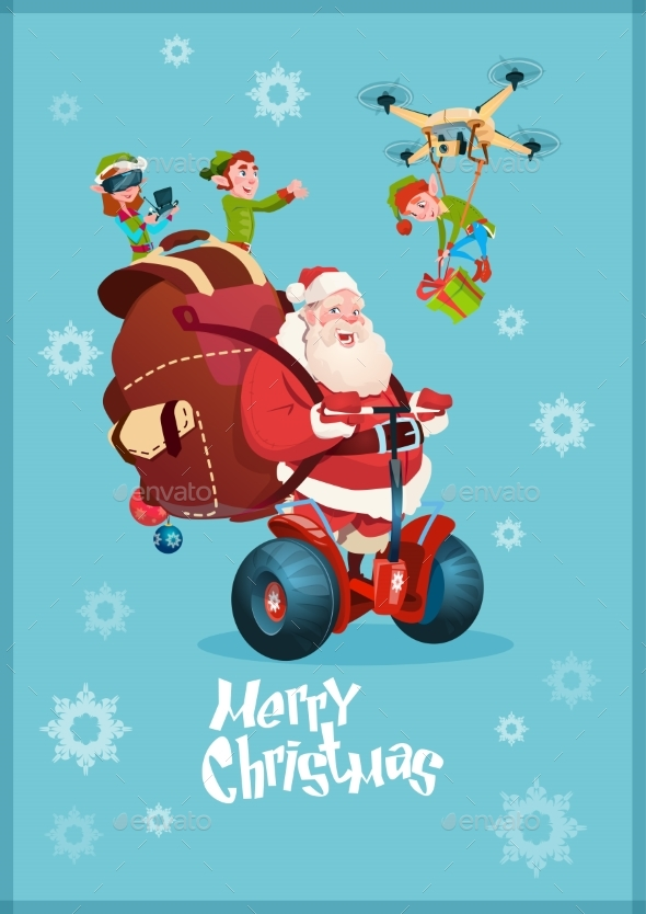 Santa Claus Ride Electric Segway, Elf Flying Drone