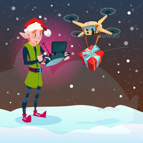 Green Elf Hold Remove Controller Drone Delivery