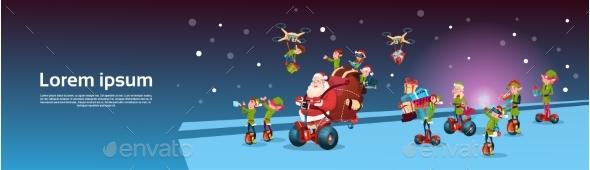 Santa Claus Ride Electric Segway Scooter, Elf
