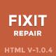 Phone, Computer Repair Shop Website Template   Fixit - ThemeForest Item for Sale