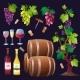 Wine Set Vector. - GraphicRiver Item for Sale
