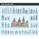 Collection Of Building Icons - GraphicRiver Item for Sale