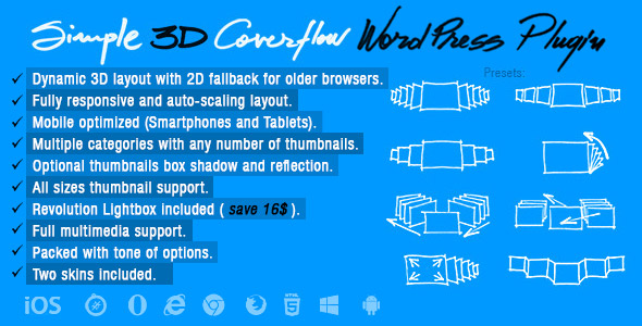 Simple 3D Coverflow Wordpress Plugin