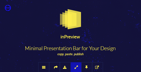 inPreview — Minimal Presentation Bar for Your Design
