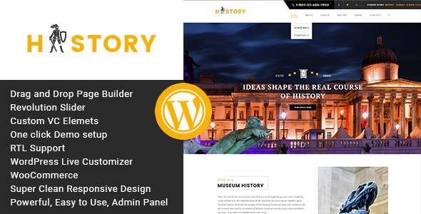 History- Museum & Exhibition WordPress Theme