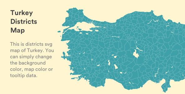 Interactive Vectorel Turkey District and City Map [SVG, JS, HTML5]
