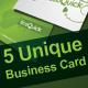 5 Unique Business Cards - GraphicRiver Item for Sale