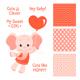 Baby Elephant Design Set - GraphicRiver Item for Sale