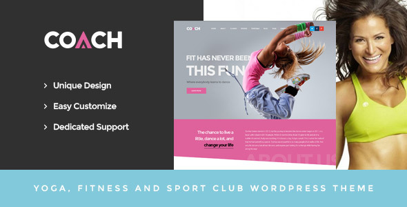 Coach - Sport & Fitness WordPress Theme