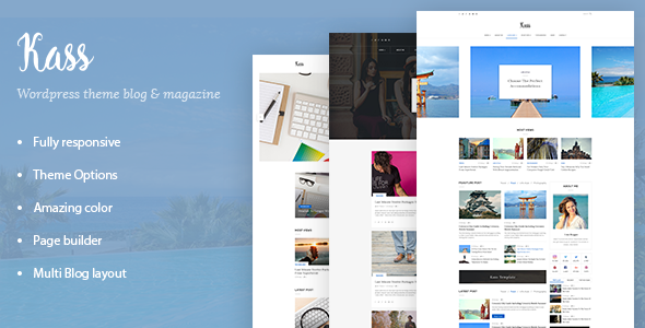 Kass - Multi Blog/Magazine WordPress Theme