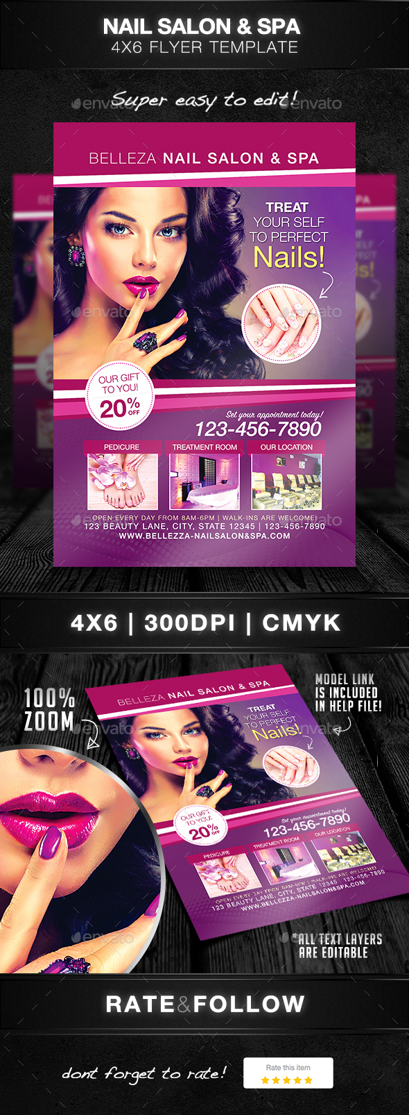 Nail Salon Flyer Graphics Designs Templates From Graphicriver