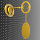 Golden key with blank tag - GraphicRiver Item for Sale