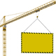 crane with blank banner - GraphicRiver Item for Sale