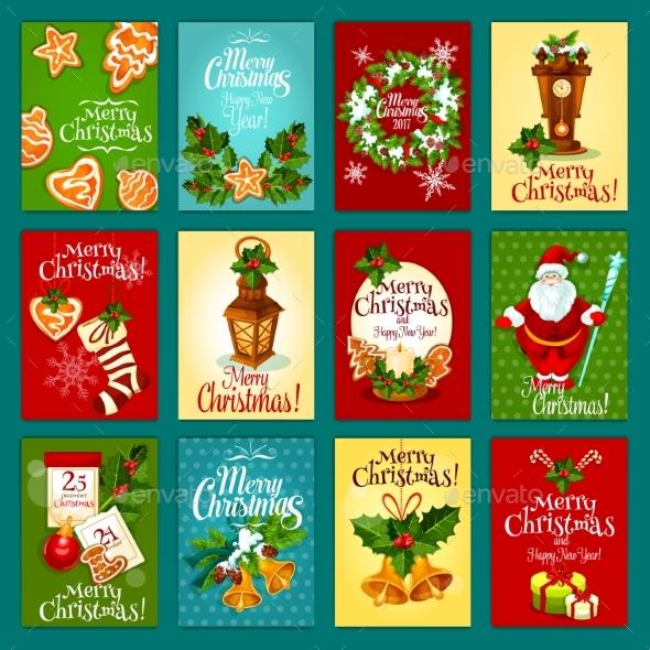 Christmas Winter Holiday Greeting Card Set