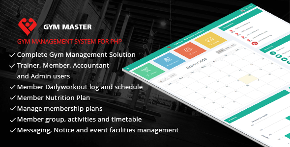 Gym Master - Gym Management System Cracked Codecanyon (3 85 MB