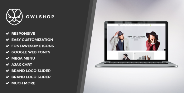 Owlshop - Minimalist Ecommerce WordPress Theme