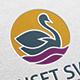 Sunset Swan Logo - GraphicRiver Item for Sale