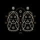 Thin Line Zodiac Gemini Label - GraphicRiver Item for Sale
