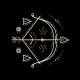 Thin Line Zodiac Sagittarius Label - GraphicRiver Item for Sale