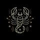 Thin Line Zodiac Scorpio Label - GraphicRiver Item for Sale