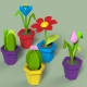 Low poly flowers in pot. - 3DOcean Item for Sale