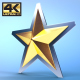 Golden Star Logo Reveal - VideoHive Item for Sale