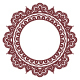 Indian Henna Floral Round Pattern - Mehndi - GraphicRiver Item for Sale
