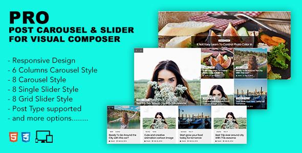 Pro Post Carousel & Slider For Visual Composer
