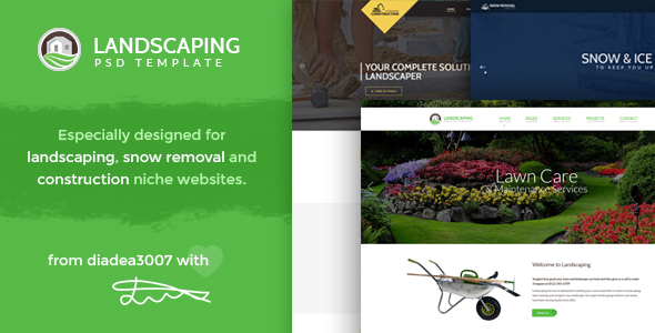 Landscaping - Snow Removal & Construction PSD Template