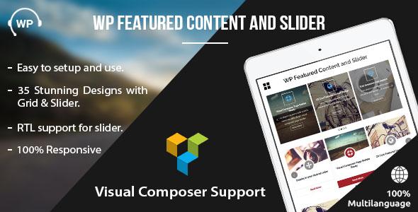 Featured Content and Slider - WordPress Plugin
