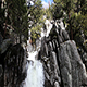 Waterfall Cascading Over Granite Rock Yosemite Park California - VideoHive Item for Sale