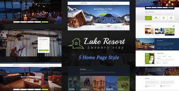 Lake Resort : Resort and Hotel HTML Template