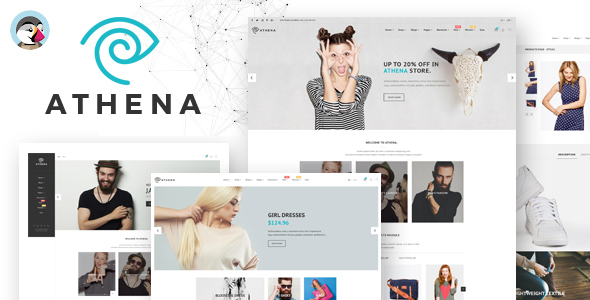 Athena - With 15 + Homepages  Responsive Prestashop Theme