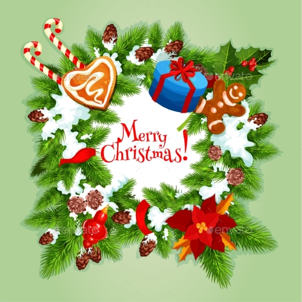 Christmas Day Greeting Card or Poster Design