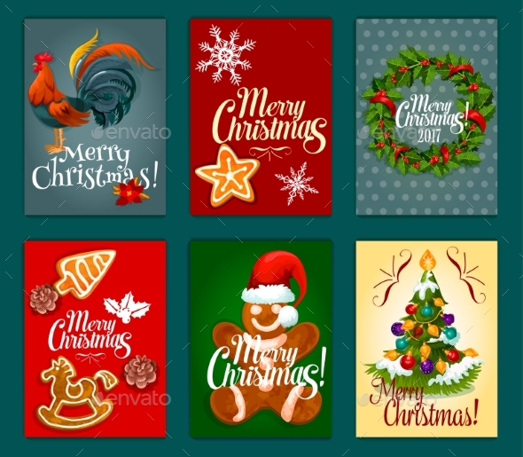 Christmas Day Festive Poster and Greeting Card Set