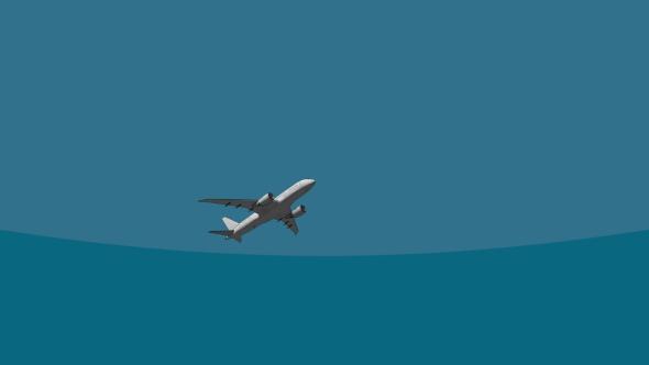 Big Passenger Airliner Flying Across The Sky