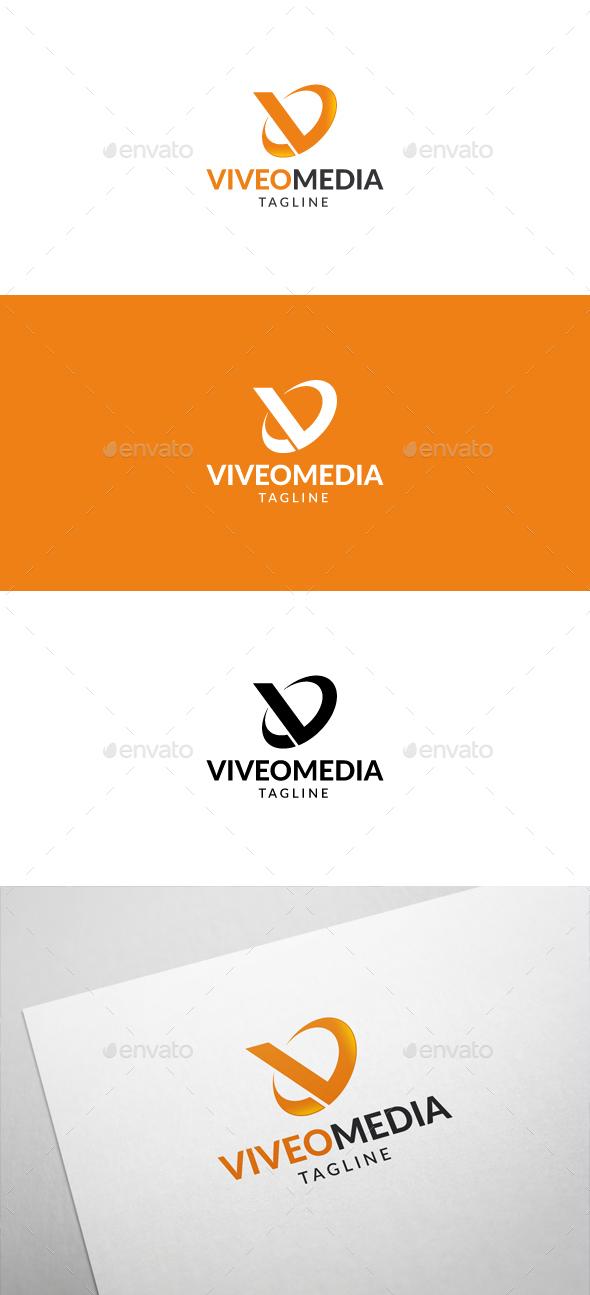 Viveo Media V Letter Logo