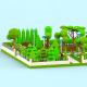 Low Poly Cartoon City Park - 3DOcean Item for Sale