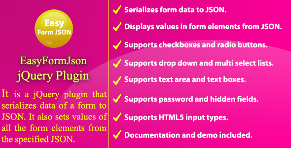 Easy Form JSON - jQuery Plugin Download