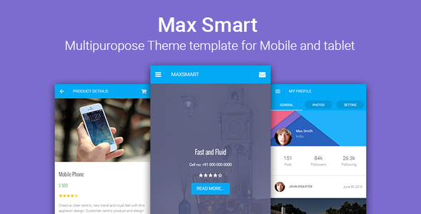 Maxsmart | Multipurpose Responsive HTML for Mobile and Tablet