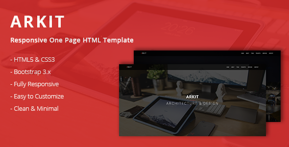 Arkit - Responsive One Page HTML Template