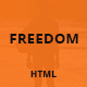 Freedom - Responsive One Page HTML Template - ThemeForest Item for Sale