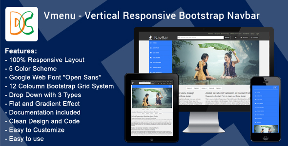 DC - Vertical Responsive Mega Nav Menu V1.0 Download