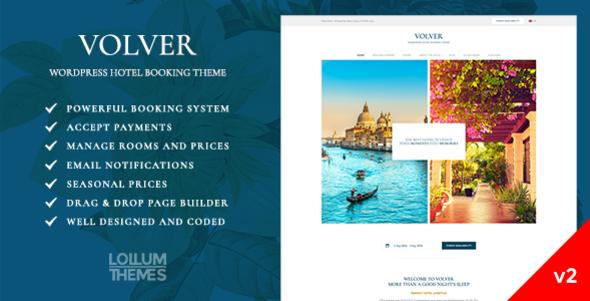 Volver Hotel - WordPress Booking Theme