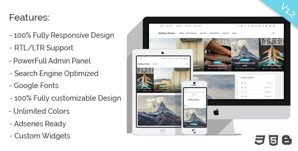 MyBlog - Blogger Responsive Personal Template