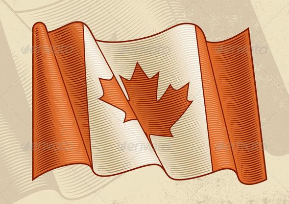 Vintage Canadian Flag