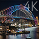 Sydney Harbour Bridge Night Illumination - VideoHive Item for Sale